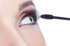 Close up of female eye with brilliant make-up Royalty Free Stock Photos