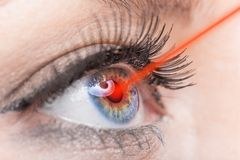 Close up of a female eye Royalty Free Stock Photography