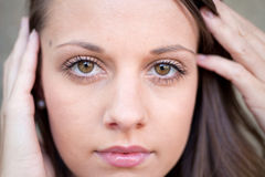 Close Up Female Face Royalty Free Stock Photos