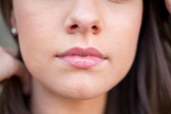 Close up Female Face Stock Photo