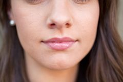Close up Female Face Stock Photography
