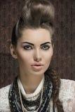 Close-up female fashion portrait Royalty Free Stock Photo