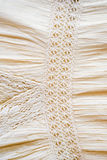 Close up of female linen dress background texture Stock Photo