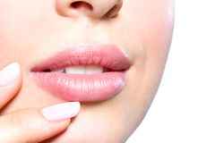 Close up of female lips Royalty Free Stock Photography