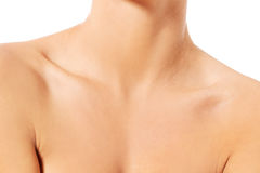 Close up of female neck and shoulder Royalty Free Stock Photo
