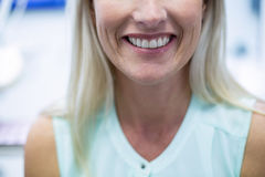 Close-up of female patient smiling Stock Photos