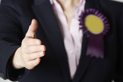 Close Up Of Female Politician Reaching Out To Shake Hands Royalty Free Stock Images