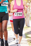 Close Up Of Female Runners In Race Royalty Free Stock Image