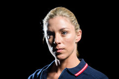 Close-up of female tennis player Royalty Free Stock Photo
