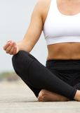 Close up female yoga hands Stock Images