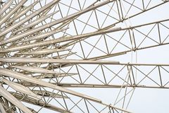 Close up ferris. Close up cerris Wheel Metal Framing stock photography