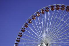 Close up of Ferris Wheel at Navy Pier Stock Photography