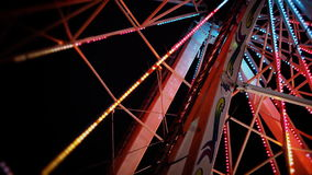 Close up of Ferris wheel structure stock video footage