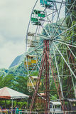 Close up of a ferris wheel Royalty Free Stock Images