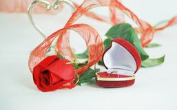 Close up.a festive song for Valentine`s day.  Stock Photography
