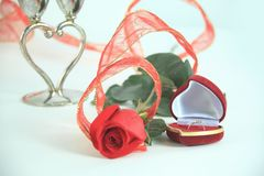 Close up.a festive song for Valentine`s day.  Royalty Free Stock Image