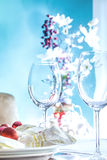 Close up of festive Table Setting. Close up of festive Table Setting Royalty Free Stock Image