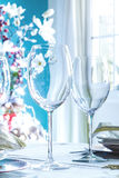 Close up of festive Table Setting. Close up of festive Table Setting Royalty Free Stock Images