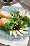 Close-up of Field Salad with Pears Stock Photography