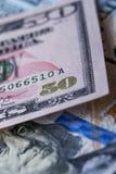 Close up of fifty dollar bill Stock Photos