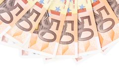Close up of fifty euro Stock Image