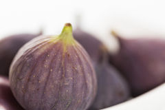 Close up of figs on white background. Royalty Free Stock Photography