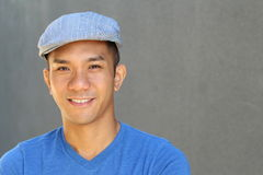 Close up of Filipino male with copy space on the right Stock Images