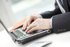 Close-up of financial advisor Royalty Free Stock Photography