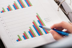 Close-up Of Financial Graph Stock Images