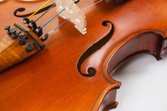 A close-up of a fine violin Royalty Free Stock Photography