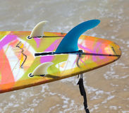 Close up of fins of longboard Royalty Free Stock Photography