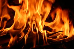 Close up fire Stock Images