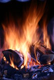 Close up of a fire. Royalty Free Stock Photo