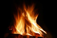 Close-up of fire Royalty Free Stock Image