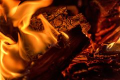 Abstract fire background. Fireplace or hearth Royalty Free Stock Photos