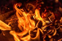 Abstract fire background. Fireplace or hearth Stock Photo