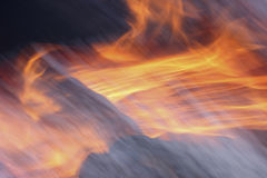Close-up of a fire Royalty Free Stock Photography