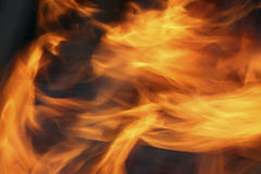 Close-up of a fire Stock Photo