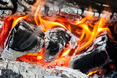 Close up fire Stock Photo