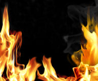 Close-up of fire and flames Stock Photography