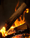 Close up of a fire Stock Images