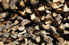 Close up of firewood Royalty Free Stock Images