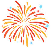 Close up firework on white. Illustration Royalty Free Stock Photo