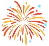 Close up firework on white Royalty Free Stock Photo