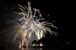 Close Up Fireworks in disney epcot Royalty Free Stock Photo