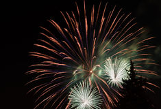 Close up fireworks Royalty Free Stock Photo