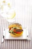 Close up fish burger Stock Photo