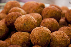 Close up of Fish cutlets. Lots of fried fish ball cutlets Royalty Free Stock Photography