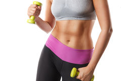 Close-up of a fit woman abs Royalty Free Stock Photo