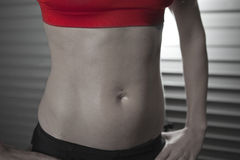 Close Up of Fitness Female Abs Royalty Free Stock Photo